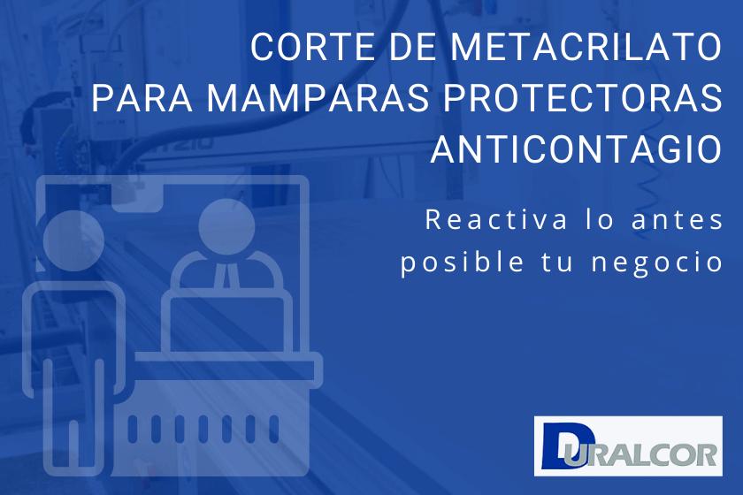 corte de metacrilato para mamparas protectoras en Madrid