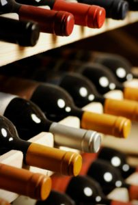 Almacenamiento de botellas de vino